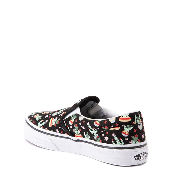 alternate view Vans Slip On Cactus Skate Shoe - Little Kid - BlackALT1