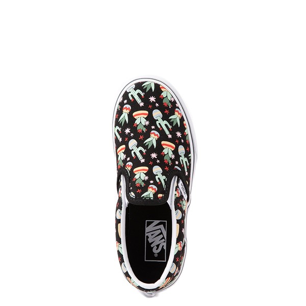 alternate view Vans Slip On Cactus Skate Shoe - Little Kid - BlackALT2