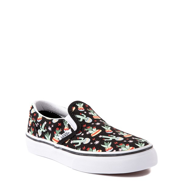 alternate view Vans Slip On Cactus Skate Shoe - Little Kid - BlackALT5