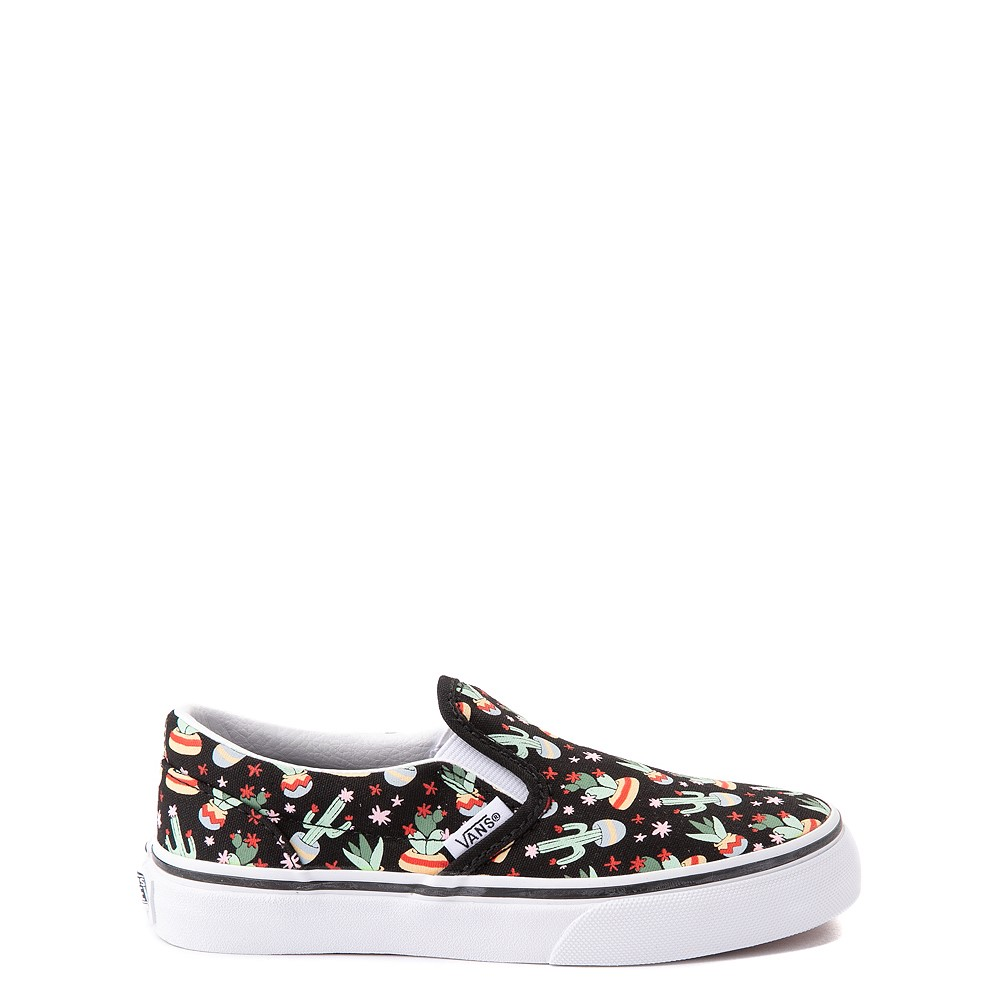 Vans Slip On Cactus Skate Shoe - Little Kid - Black