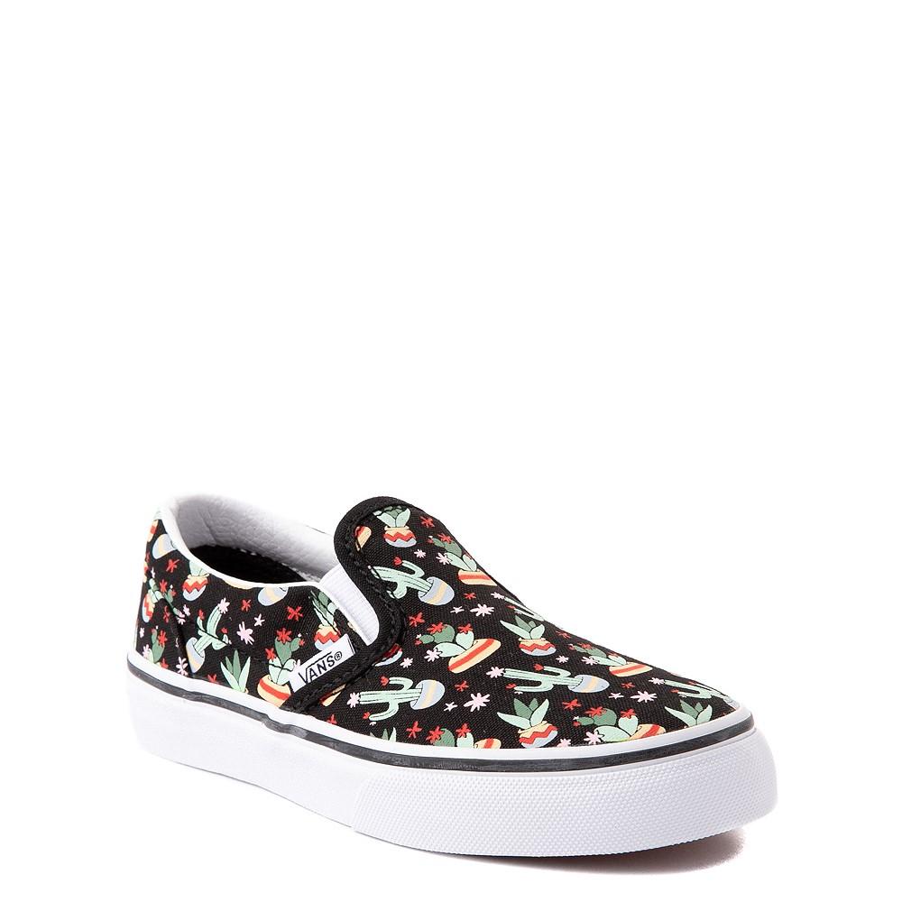 Vans Slip On Cactus Skate Shoe - Little Kid - Black