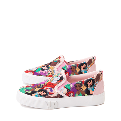 Alternate view of Ground Up Disney Princesses Slip On Sneaker - Little Kid - Multicolor