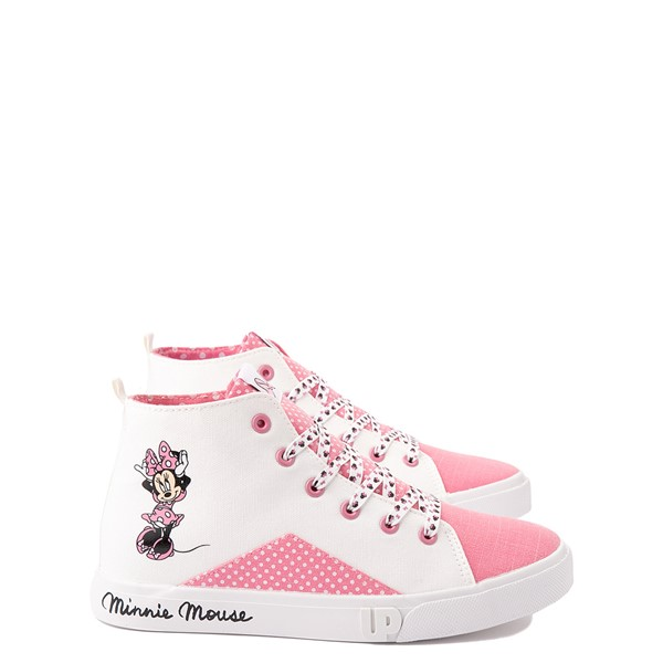 Main view of Ground Up Disney Minnie Mouse Hi Sneaker - Little Kid / Big Kid - White / Pink
