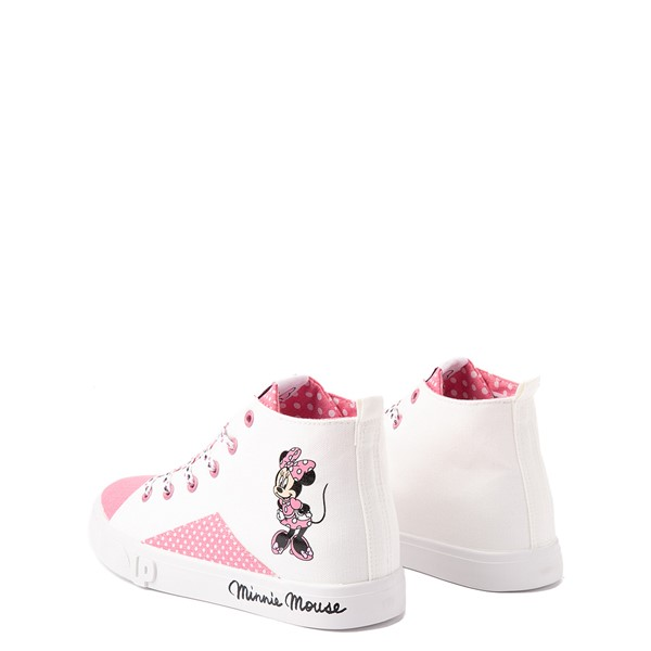 alternate view Ground Up Disney Minnie Mouse Hi Sneaker - Little Kid / Big Kid - White / PinkALT1