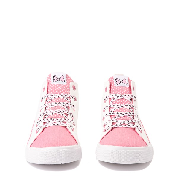 alternate view Ground Up Disney Minnie Mouse Hi Sneaker - Little Kid / Big Kid - White / PinkALT4