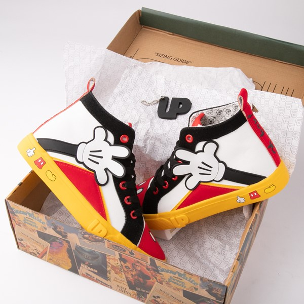 alternate view Ground Up Disney Mickey Mouse Hi Sneaker - Little Kid / Big Kid - MulticolorALT1B