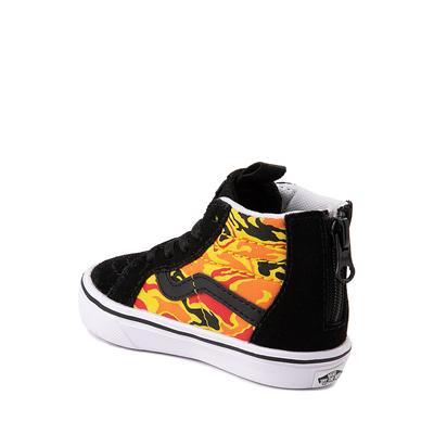 Alternate view of Vans Sk8 Hi Zip ComfyCush® Skate Shoe - Baby / Toddler - Black / Flame Camo