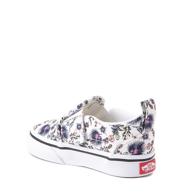 alternate view Vans Slip On V Skate Shoe - Baby / Toddler - White / Paradise FloralALT1