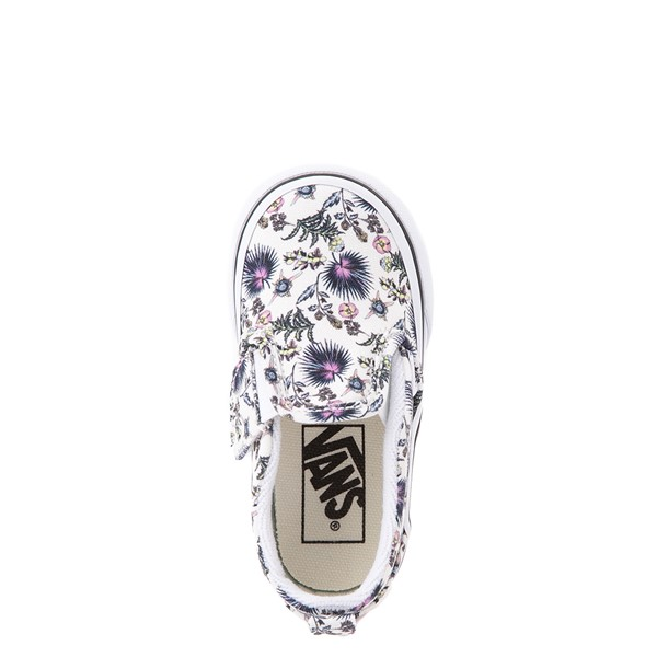 alternate view Vans Slip On V Skate Shoe - Baby / Toddler - White / Paradise FloralALT2