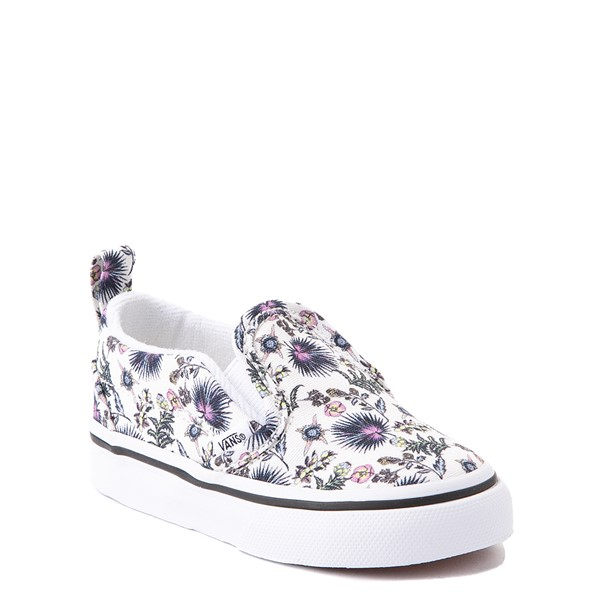 alternate view Vans Slip On V Skate Shoe - Baby / Toddler - White / Paradise FloralALT5