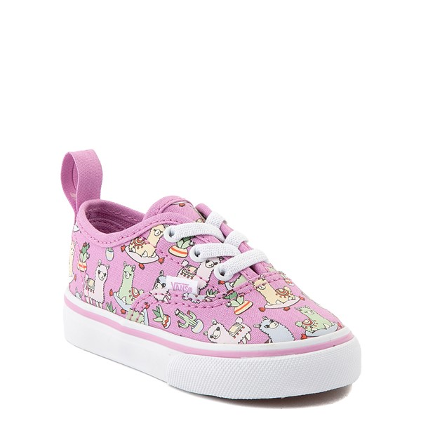 alternate view Vans Authentic Llama Skate Shoe - Baby / Toddler - OrchidALT5