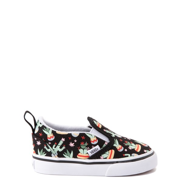 Vans Slip On V Cactus Skate Shoe - Baby / Toddler - Black
