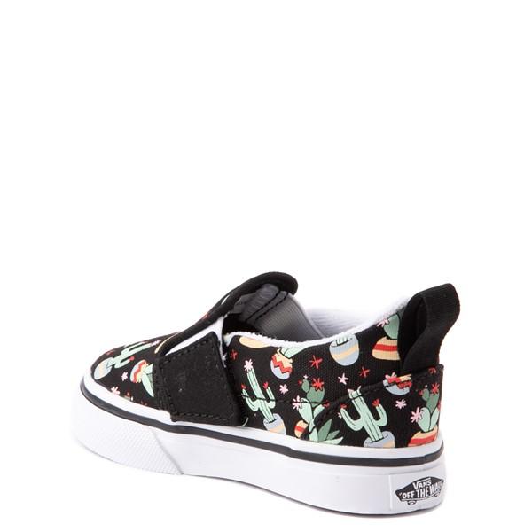 alternate view Vans Slip On V Cactus Skate Shoe - Baby / Toddler - BlackALT1