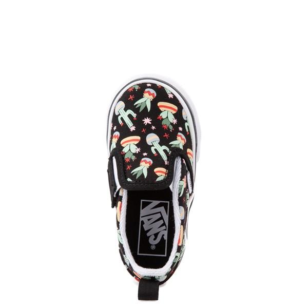 alternate view Vans Slip On V Cactus Skate Shoe - Baby / Toddler - BlackALT2