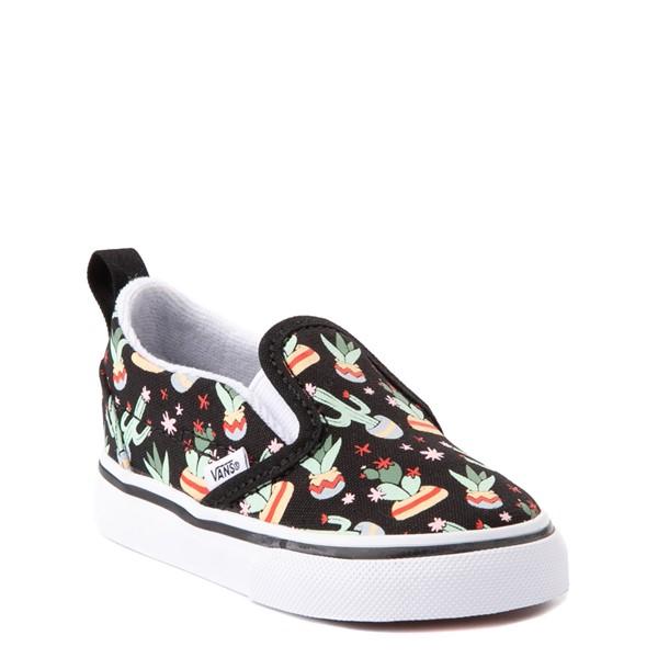 alternate view Vans Slip On V Cactus Skate Shoe - Baby / Toddler - BlackALT5