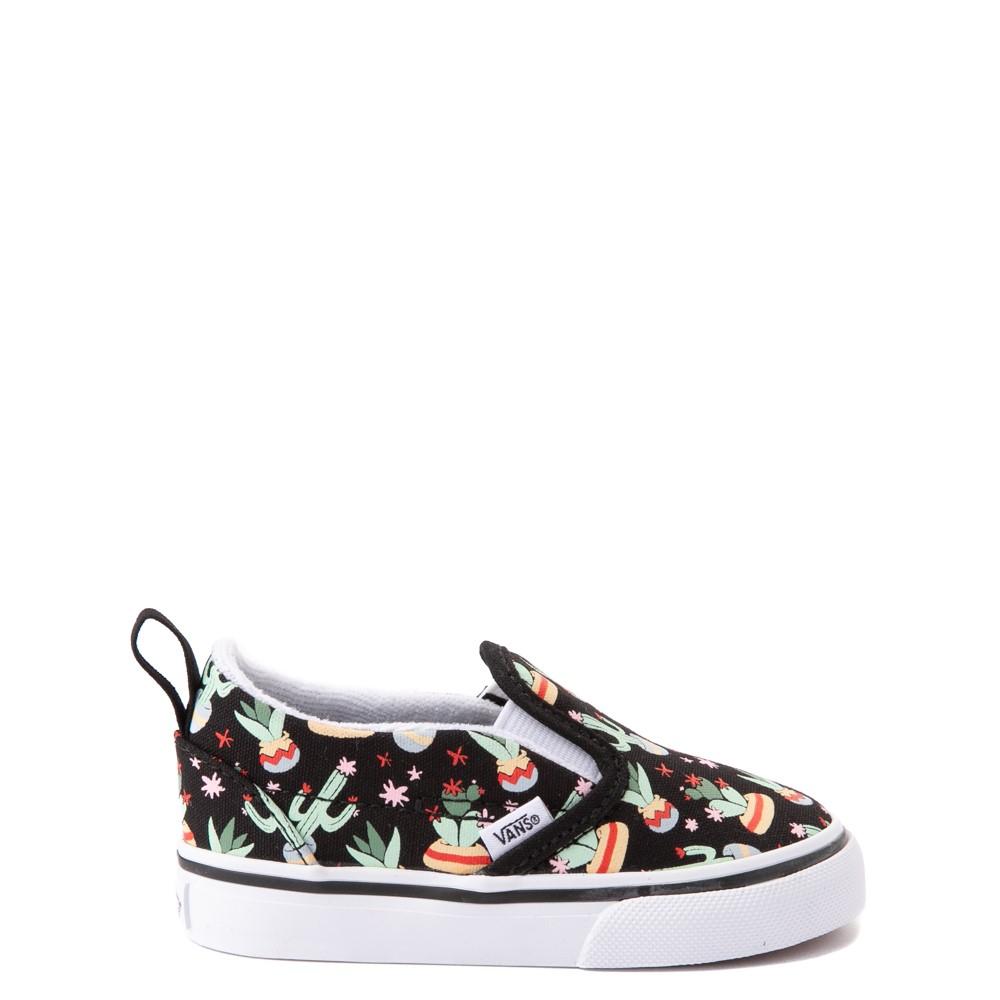 Vans Slip On V Cactus Skate Shoe - Baby / Toddler - Black