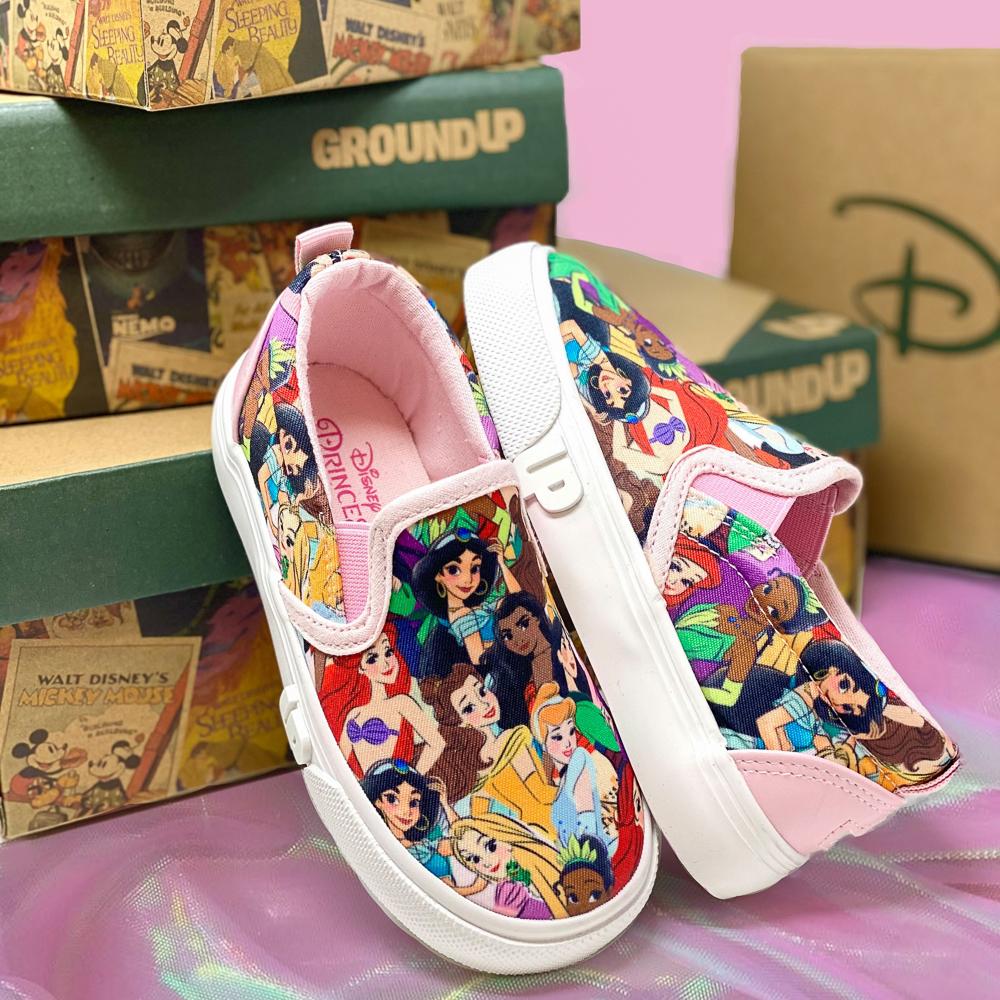 Ground Up Disney Princesses Slip On Sneaker - Toddler - Multicolor