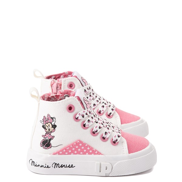 Main view of Ground Up Disney Minnie Mouse Hi Sneaker - Toddler - White / Pink