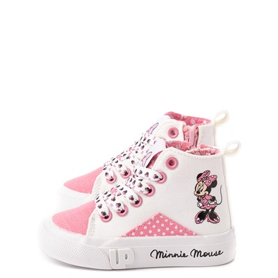 Alternate view of Ground Up Disney Minnie Mouse Hi Sneaker - Toddler - White / Pink