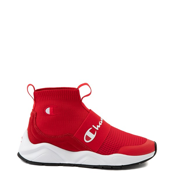 Main view of Womens Champion Rally Hi Athletic Shoe - Red