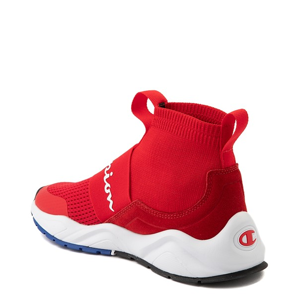 alternate view Womens Champion Rally Hi Athletic Shoe - RedALT1