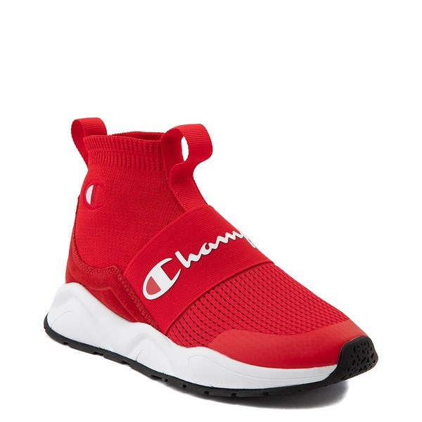 alternate view Womens Champion Rally Hi Athletic Shoe - RedALT5