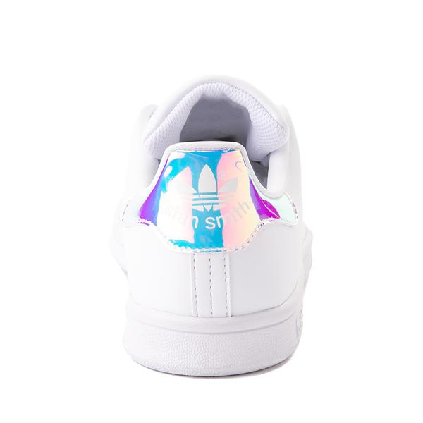 alternate view adidas Stan Smith Athletic Shoe - Big Kid - White / IridescentALT4