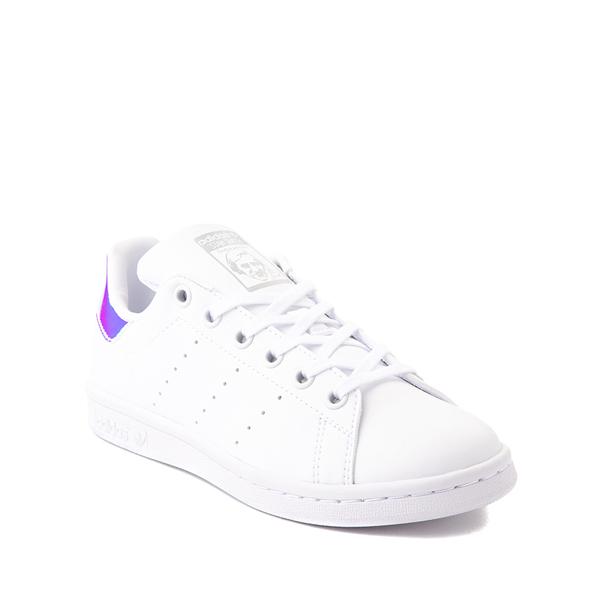 alternate view adidas Stan Smith Athletic Shoe - Big Kid - White / IridescentALT5