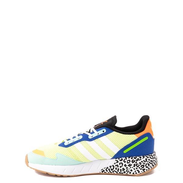 alternate view adidas ZX 1K Boost Athletic Shoe - Big Kid - Semi-Frozen Yellow / Clear MintALT1