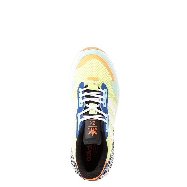 alternate view adidas ZX 1K Boost Athletic Shoe - Big Kid - Semi-Frozen Yellow / Clear MintALT2