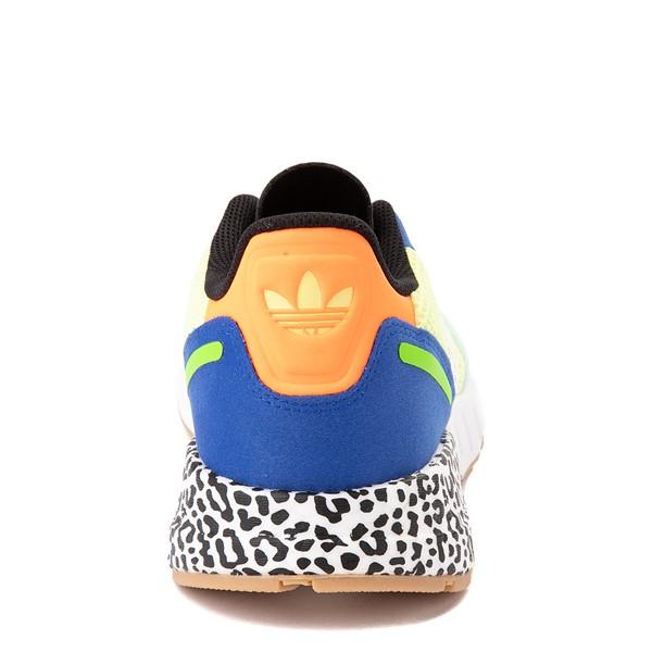 alternate view adidas ZX 1K Boost Athletic Shoe - Big Kid - Semi-Frozen Yellow / Clear MintALT4