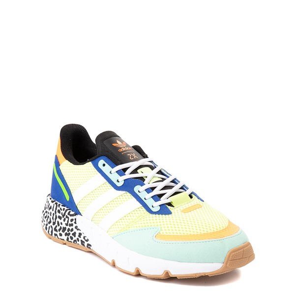 alternate view adidas ZX 1K Boost Athletic Shoe - Big Kid - Semi-Frozen Yellow / Clear MintALT5