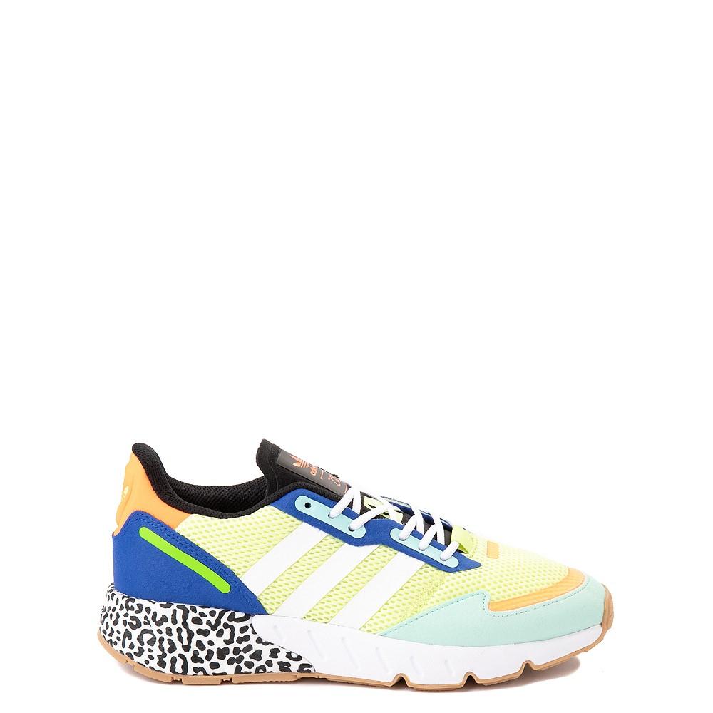 adidas ZX 1K Boost Athletic Shoe - Big Kid - Semi-Frozen Yellow / Clear Mint