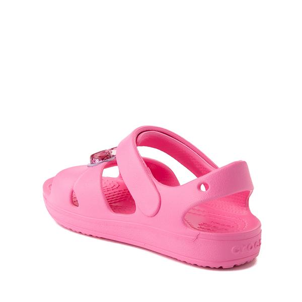 alternate view Crocs Classic Cross-Strap Charm Sandal - Baby / Toddler / Little Kid - Pink LemonadeALT1