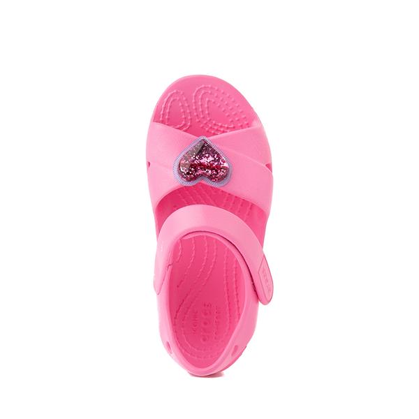alternate view Crocs Classic Cross-Strap Charm Sandal - Baby / Toddler / Little Kid - Pink LemonadeALT2
