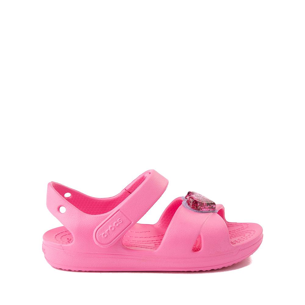 Crocs Classic Cross-Strap Charm Sandal - Baby / Toddler / Little Kid - Pink Lemonade