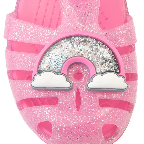 alternate view Crocs Isabella Charm Sandal - Baby / Toddler / Little Kid - Pink LemonadeALT2B