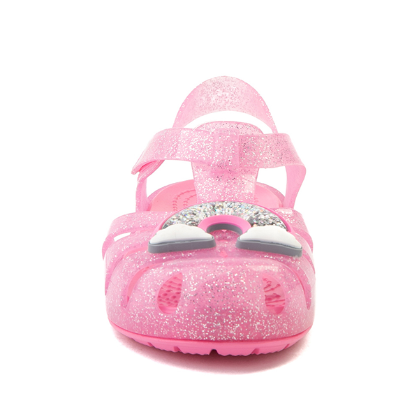 alternate view Crocs Isabella Charm Sandal - Baby / Toddler / Little Kid - Pink LemonadeALT4