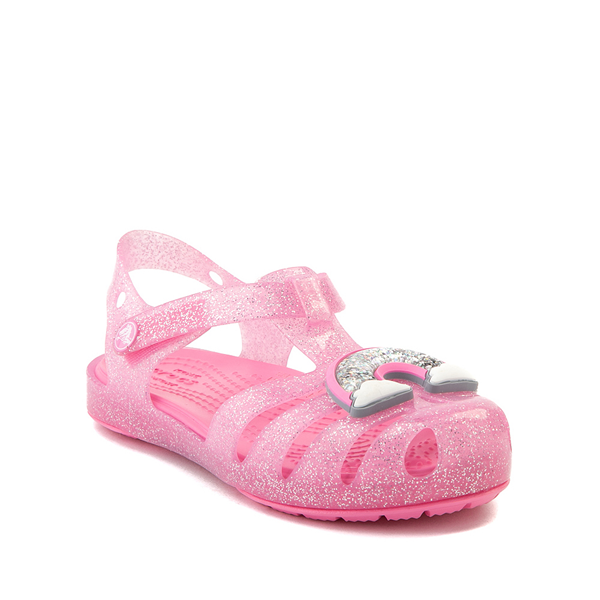 alternate view Crocs Isabella Charm Sandal - Baby / Toddler / Little Kid - Pink LemonadeALT5