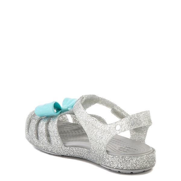 alternate view Crocs Isabella Charm Sandal - Baby / Toddler / Little Kid - SilverALT1