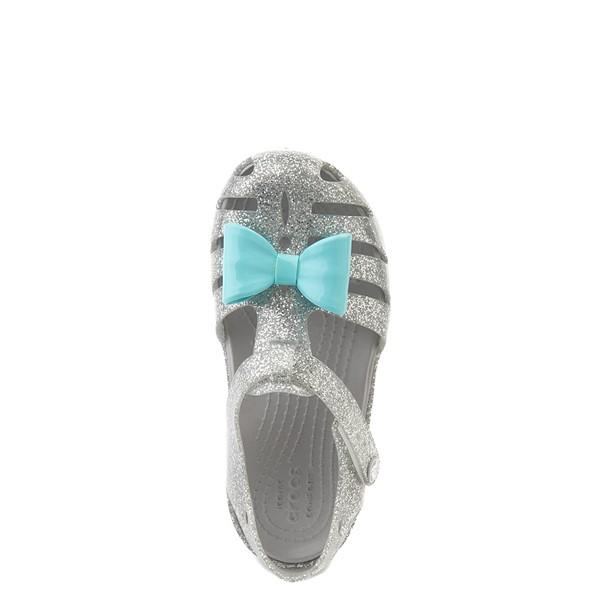 alternate view Crocs Isabella Charm Sandal - Baby / Toddler / Little Kid - SilverALT4B