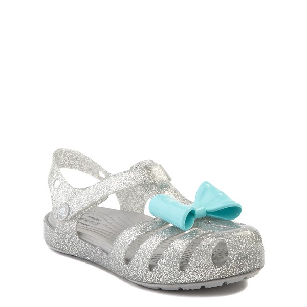 alternate view Crocs Isabella Charm Sandal - Baby / Toddler / Little Kid - SilverALT5