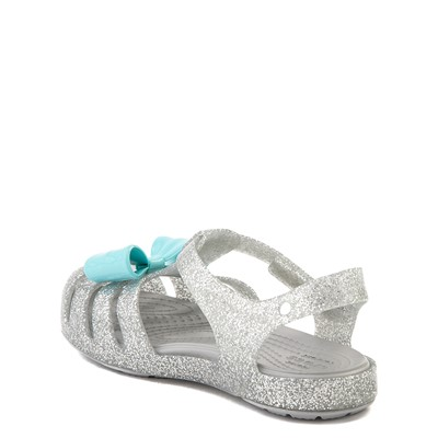 Alternate view of Crocs Isabella Charm Sandal - Baby / Toddler / Little Kid - Silver
