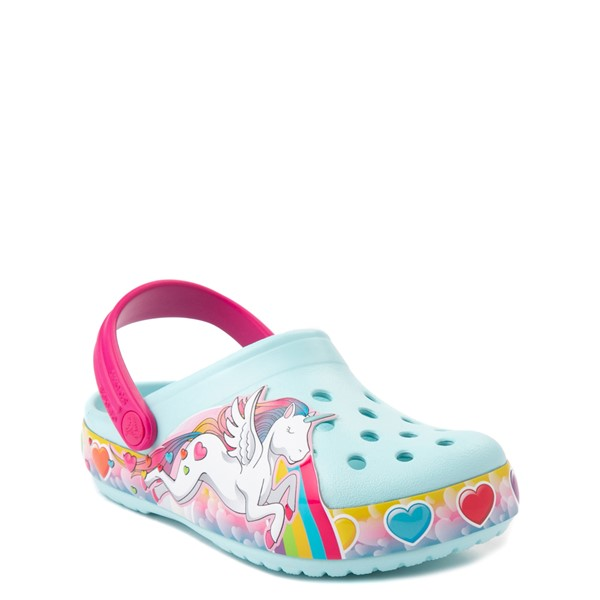 alternate view Crocs Funlab Lights Unicorn Clog - Baby / Toddler / Little Kid - Light BlueALT5