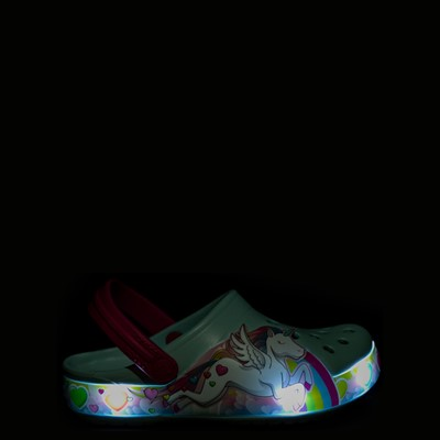 Alternate view of Crocs Funlab Lights Unicorn Clog - Baby / Toddler / Little Kid - Light Blue