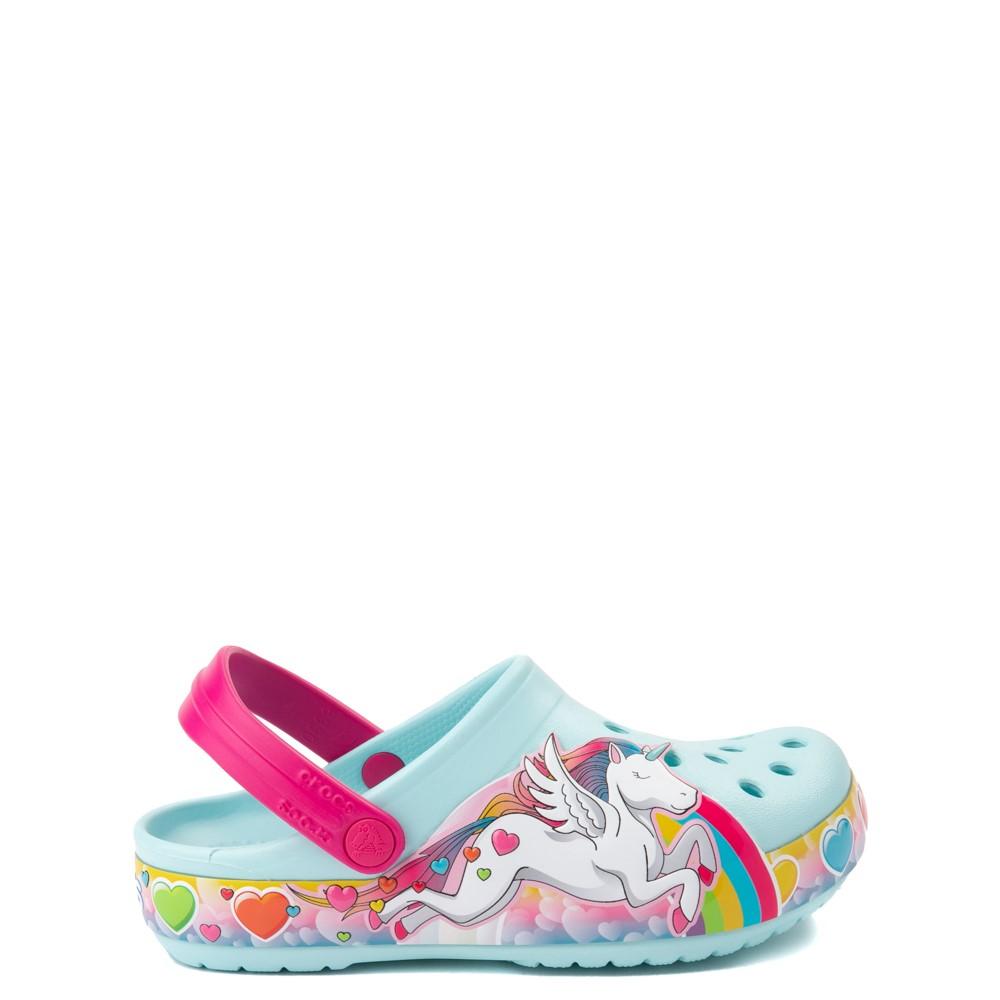 Crocs Funlab Lights Unicorn Clog - Baby / Toddler / Little Kid - Light Blue
