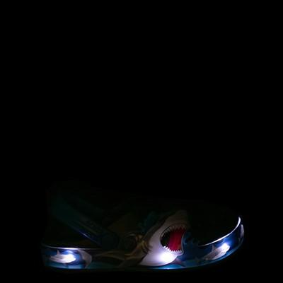Alternate view of Crocs Funlab Lights Shark Clog - Baby / Toddler / Little Kid - Black