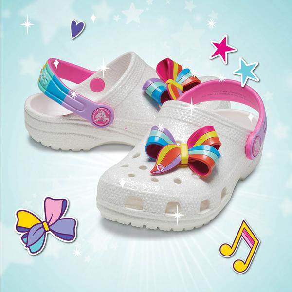 alternate view Crocs Fun Lab JoJo Siwa™ Clog - Baby / Toddler / Little Kid - WhiteALT1B