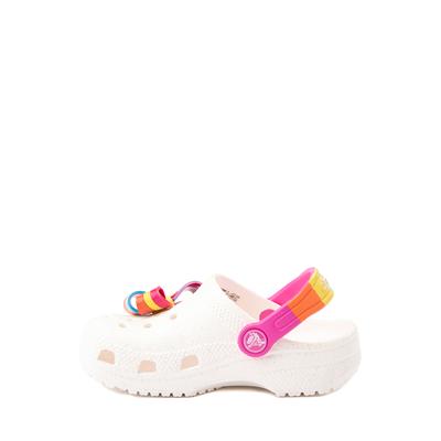 Alternate view of Crocs Fun Lab JoJo Siwa™ Clog - Baby / Toddler / Little Kid - White