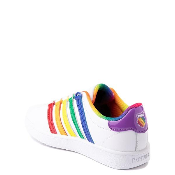 alternate view K-Swiss Classic VN Athletic Shoe - Little Kid - White / RainbowALT1